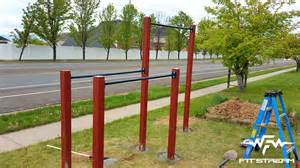 how to make an outdoor pull up bar and parallel bars diy fitness equipment fitstream