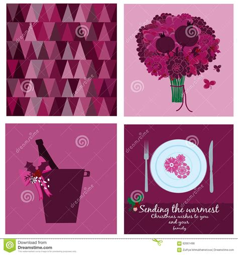 Gift Card Collection - cards collection in marsala pantone stock vector image 62661498