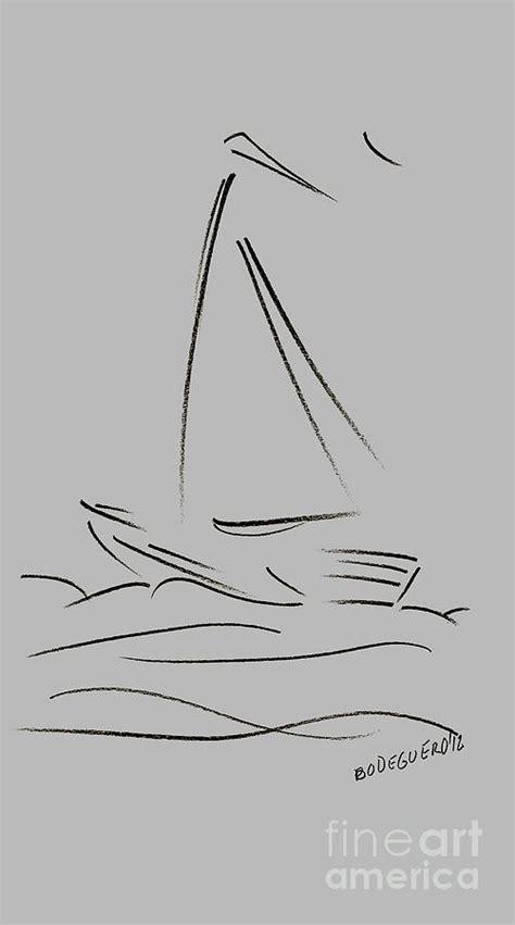 sailboat easy drawing simple sailing boat drawings drawing by mario perez