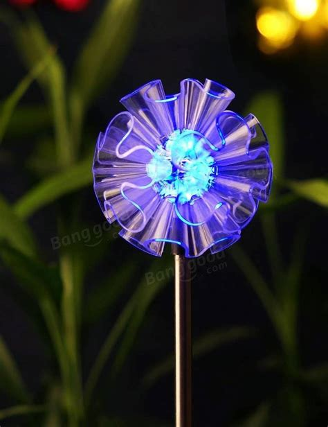 Led Waterproof Flower L Aa Pcwc04 arilux 174 solar multi color changing led flower stake light for outdoor garden patio yard decor