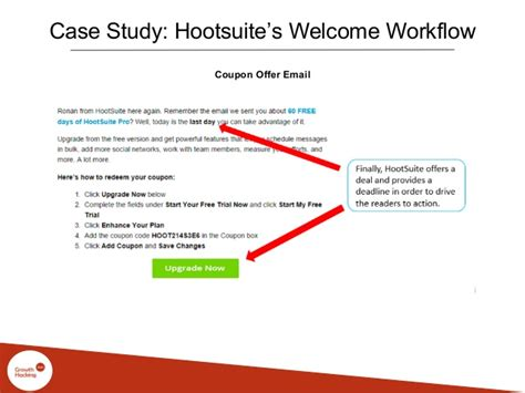 hootsuite workflow driving growth through email marketing