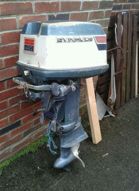 evinrude 85 hp outboard boat motor evinrude 40 hp outboard motor in poole dorset gumtree