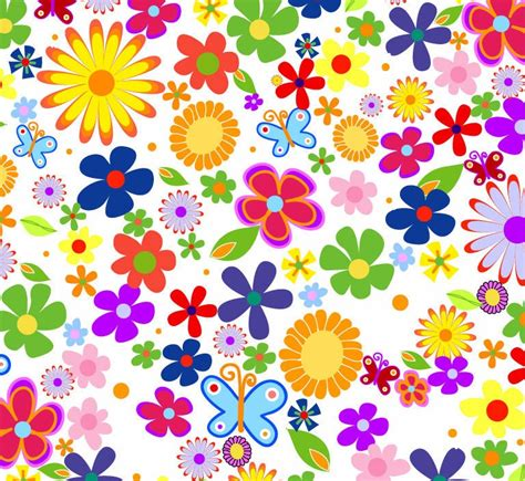 flower wallpaper clipart spring flowers background vector graphic free vector