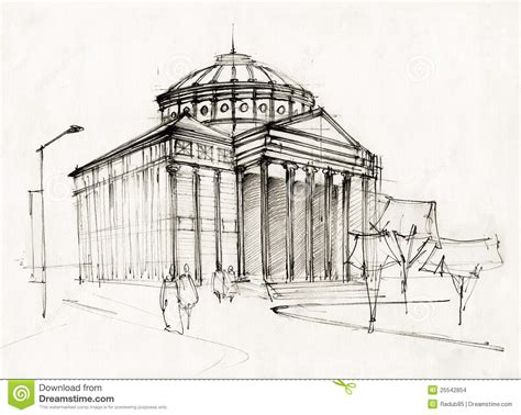 Neoclassical House Plans by Athenaeum Sketch Stock Illustration Image Of Draw