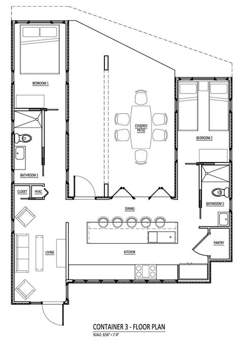 Container Floor Plan Shipping Container Homes Pinterest | railroad containers for housing floor plans