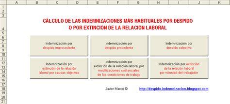 clculo de despido laboral c 225 lculo de indemnizaci 243 n por despido despido e indemnizaci 243 n