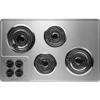 stainless steel cooktop electric ffec3205ls frigidaire 32 quot electric cooktop 4 coil