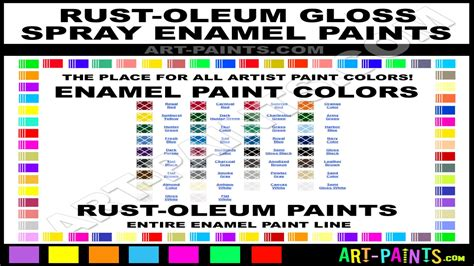 glossy spray paint enamel spray paint colors rust oleum spray paint color chart interior