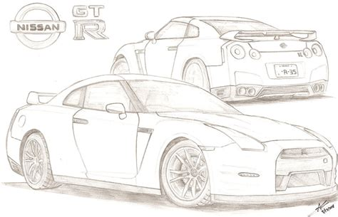 nissan skyline drawing step by step colouring pictures gtr search results calendar 2015