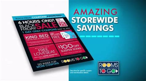 rooms to go coupon rooms to go black friday sale tv commercial doorbuster coupons ispot tv