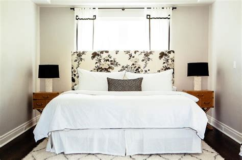 Black And White Headboard Black And White Key Curtains Floral Headboard