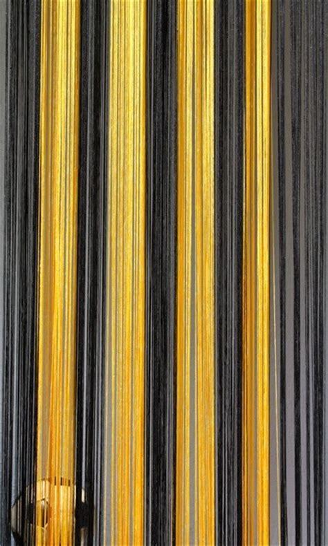 vorhang gelb grau fadenvorhang schwarz gelb 90 cm x 240 cm fadenvorh 228 nge
