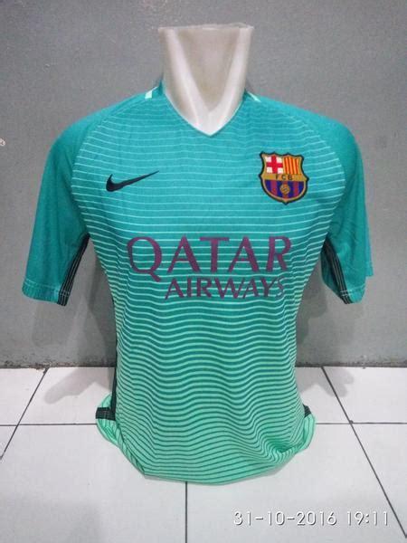 Asli Kaos Kaki Grade Ori Barcelona 3rd 2016 Biru Promo kaos bola jersey barcelona 3rd 2016 2017 jersey bola grade ori murah