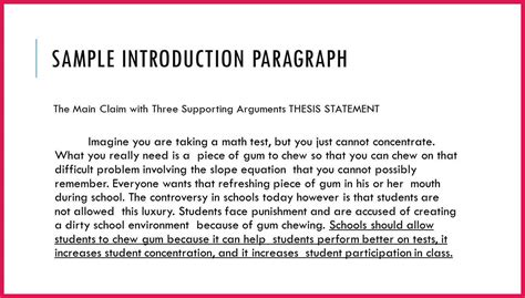 introduction paragraph template sle introduction paragraph sop exles