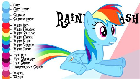 baby color guide colour guide rainbow dash by liggliluff 1 my