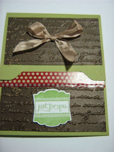 Envelope Punch Board Gift Card Holder - a gift card holder made with stin up envelope punch board sharon it with you