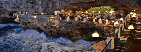 cave resturuant side of a cliff italy cave restaurant side of a cliff italy puglia restaurants