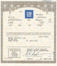 certificate of origin for a vehicle template certificate of origin for a vehicle template 100