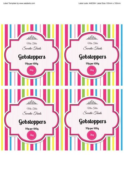 printable journal jar label jars candy and stripes on pinterest