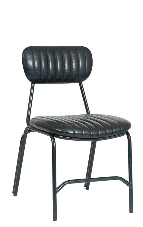 The Kennedy Classic Retro Dining Chair Upholstered Black Retro Vinyl Dining Chairs