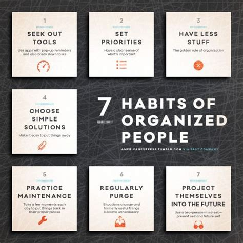organized person habits michael gurley