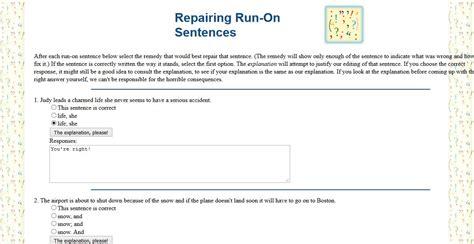 Repairing Run On Sentences English Guide Org