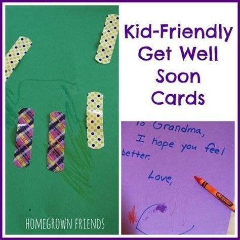 get well soon card ideas for children to make get well soon cards ideas for images