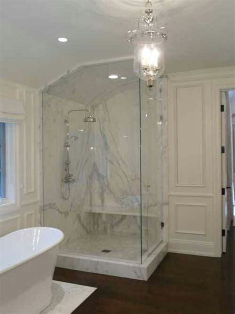 glass enclosed shower glass enclosed marble shower bathroom