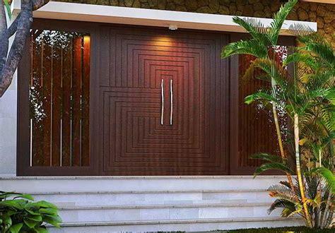 model pintu utama daun pintu rumah minimalis modern terbaru