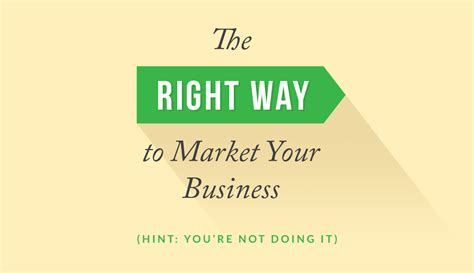 Doing Businesses The Right Way by Market Your Business By Improving Customer Experience