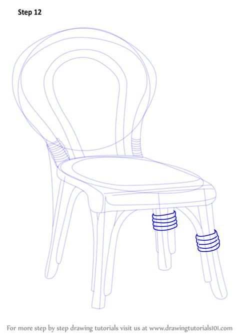 Learn How To Draw A Decorative Chair Furniture Step By