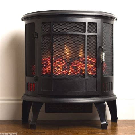 Portable Electric Fireplace Portable Electric Fireplaces Stove Heater 1500w Traditional Vintage Home Decor Ebay