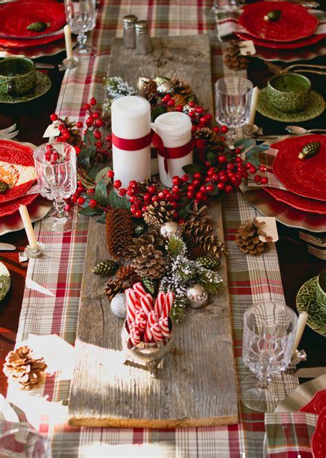 traditional christmas table decoration bon expose