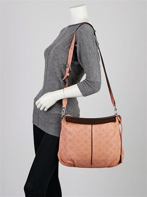 louis vuitton pink monogram mahina leather selene pm bag
