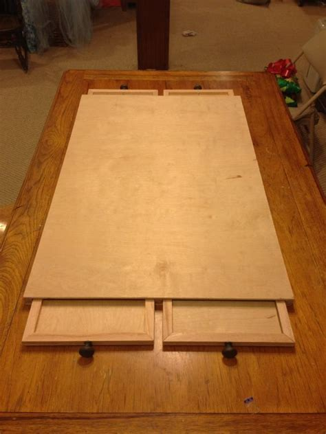 ultimate puzzle board  drawers wicked cool diy
