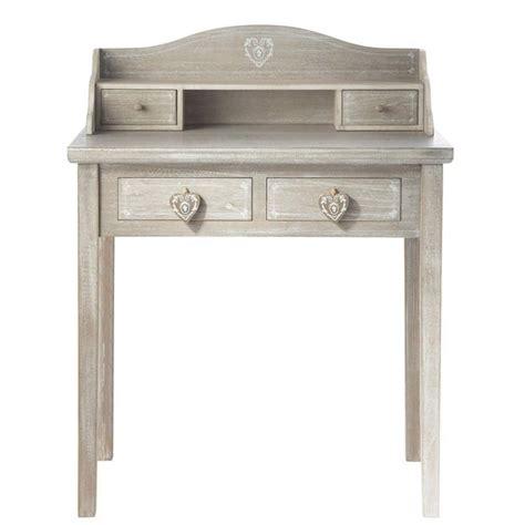 escritorios secreter escritorio secreter de madera gris an 80 cm camille