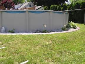 above ground pool landscaping viewing gallery