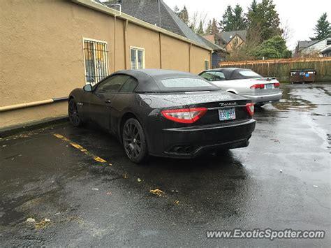 Maserati Portland by Maserati Grancabrio Spotted In Portland Oregon On 01 14