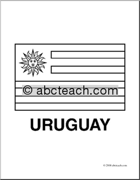 Clip Art Flags Uruguay Coloring Page Abcteach Uruguay Flag Coloring Page