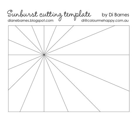 card template 4 cuts placement sunburst card with printable cutting template