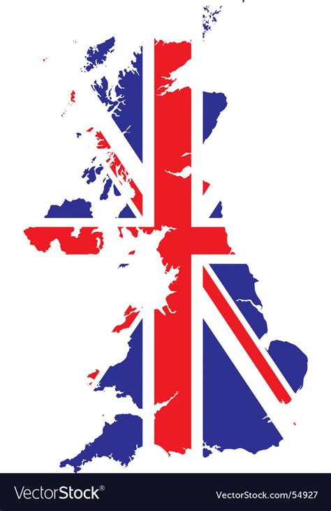 vector map of the uk royalty free stock images image 4213469 flag and map royalty free vector image vectorstock