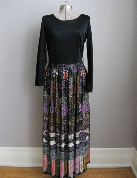 Longdres Batik Printing 33g vintage batik print maxi dress sleeves vintage logic
