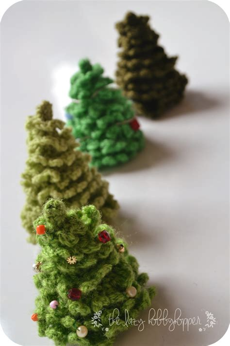 the lazy hobbyhopper crochet christmas tree free pattern