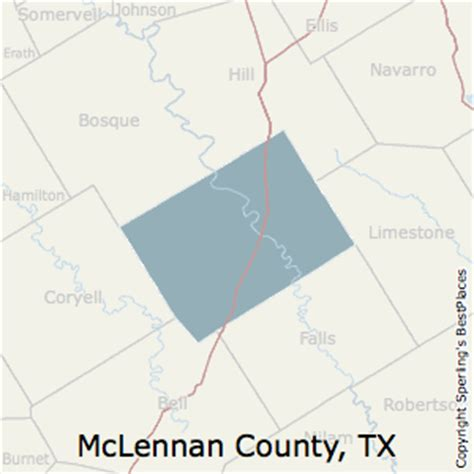 map of mclennan county texas best places to live in mclennan county texas