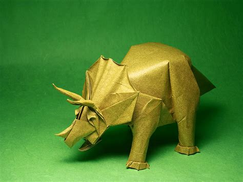 Origami Dinosaur Triceratops - 920 origami a hobby for all ages 1k smiles