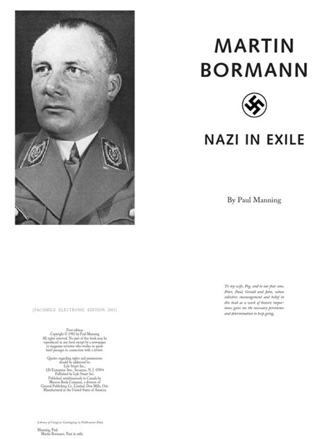 medical biography exle martin bormann nazi in exile by paul manning