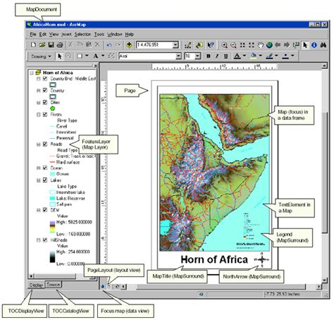 arcgis layout view data frame carto