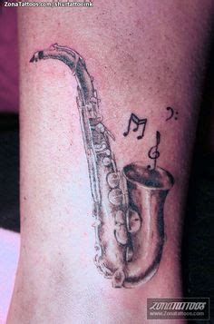 tattooed heart flute saxaphone drawing entry pinterest