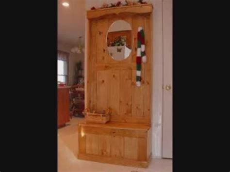 hall tree woodworking plans youtube