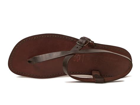 handmade brown leather sandals for italian